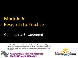 Module 6: Research to Practice