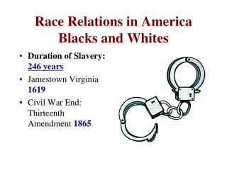 Race Relations in America Blacks and Whites