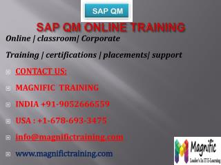 SAP QM ONLINE TRAINING IN AUSTRALIA
