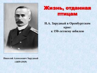 Николай Алексеевич Зарудный (1859-1919)