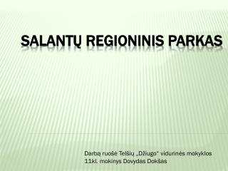 Salantų regioninis parkas