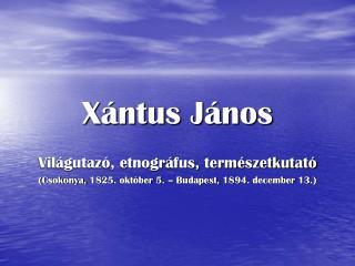 Xántus János