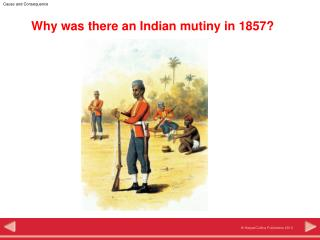 Why was there an Indian mutiny in 1857?