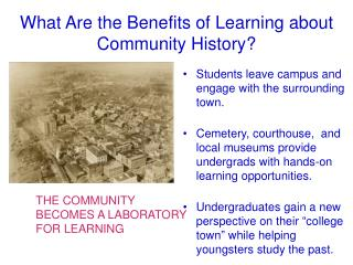What Are the Benefits of Learning about Community History?