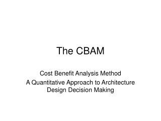 The CBAM