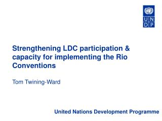 Strengthening LDC participation  capacity for implementing the Rio Conventions  Tom Twining-Ward