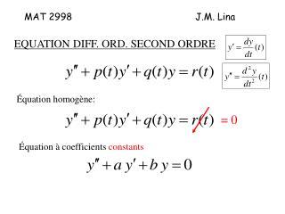 MAT 2998J.M. Lina