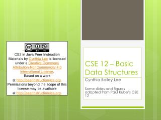 CSE 12 – Basic Data Structures
