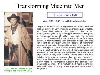 Nelson Series Talk
