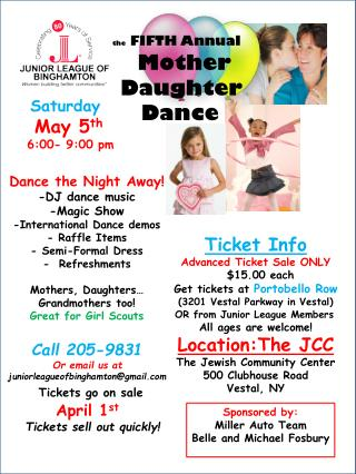 the  FIFTH Annual Mother      Daughter         Dance
