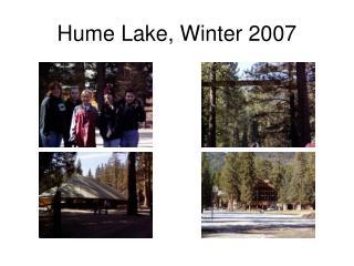 Hume Lake, Winter 2007