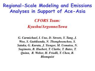 Regional-Scale Modeling and Emissions Analyses in Support of Ace-Asia