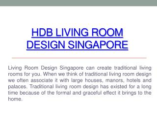 Living Room Design Singapore