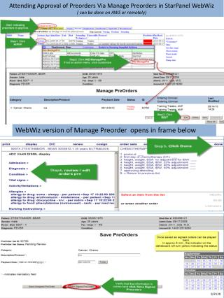 Attending Approval of Preorders Via Manage Preorders in StarPanel WebWiz