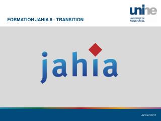 Formation  Jahia  6 - Transition