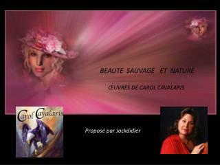 BEAUTE  SAUVAGE   ET  NATURE       ŒUVRES DE CAROL CAVALARIS