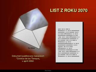 LIST Z ROKU  2070