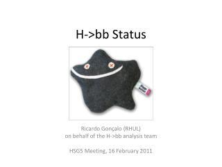 H ->bb  Status
