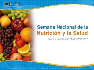 Semana Nacional de la Nutrición y la Salud