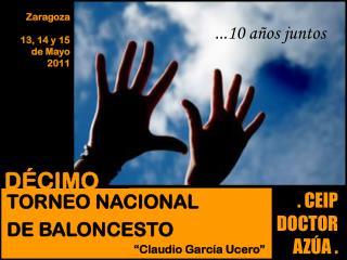 Zaragoza 13, 14 y 15  de Mayo  2011