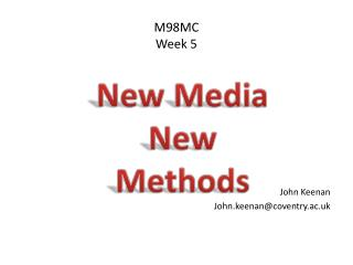 New Media New Methods