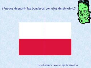 ¿Puedes desubrir las banderas con ejes de simetría?