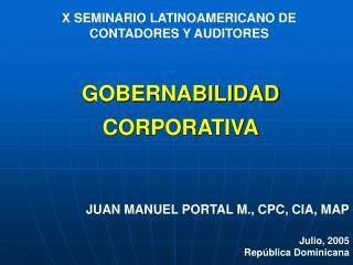 X SEMINARIO LATINOAMERICANO DE CONTADORES Y AUDITORES