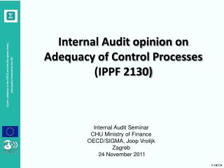 Internal Audit opinion on Adequacy of Control Processes (IPPF 2130)