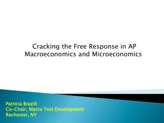 Cracking the Free Response in AP Macroeconomics and Microeconomics