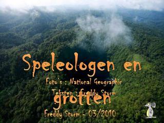 Speleologen en grotten
