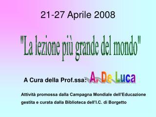 21-27 Aprile 2008