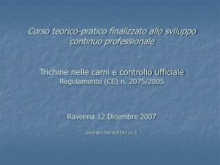Regolamento (CE) N. 2075/2005 Allegato 1