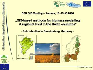 Suitable  spatial data sets (digital) in Brandenburg:  Administrative units : NUTS 1-4