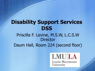 Disability Support Services DSS