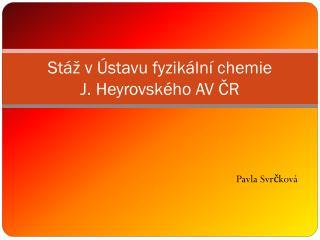 Stáž v Ústavu fyzikální chemie  J. Heyrovského AV ČR