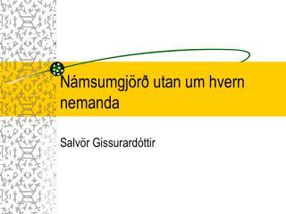 Námsumgjörð utan um hvern nemanda