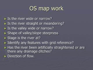 OS map work
