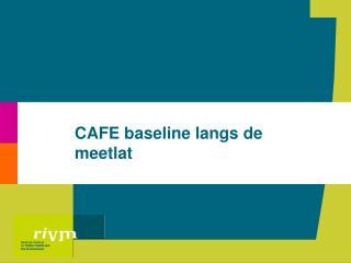CAFE baseline langs de meetlat