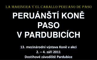 PERU�N�T� KON? PASO V PARDUBIC�CH