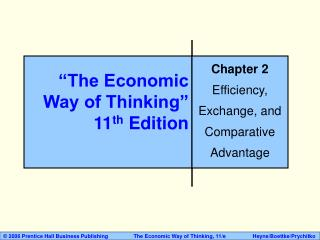The Economic Way of Thinking  11th Edition