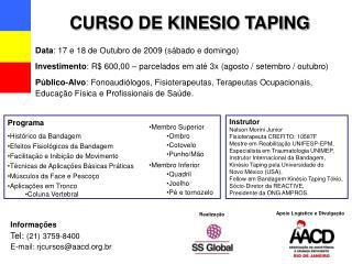 CURSO DE KINESIO TAPING