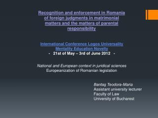 International Conference Logos Universality Mentality Education Novelty