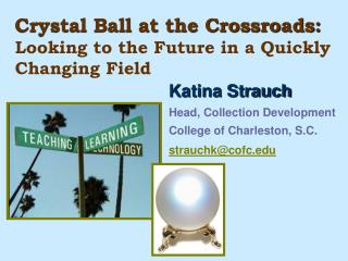Crystal Ball at the Crossroads:  Looking to the Future in a Quickly Changing Field