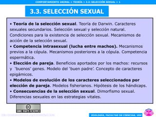 3.3. SELECCI N SEXUAL