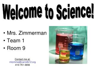 Mrs. Zimmerman Team 1 Room 9