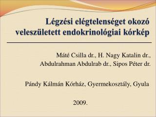 Máté Csilla dr., H. Nagy Katalin dr.,  Abdulrahman Abdulrab dr., Sipos Péter dr.