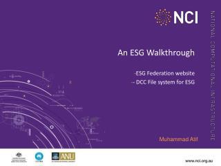 An ESG Walkthrough