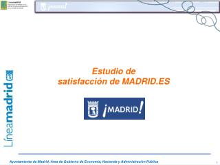 Estudio de  satisfacci�n de MADRID.ES