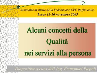 Seminario di studio della Federazione CFC Puglia onlus