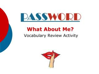 What About Me  Vocabulary Review Activity